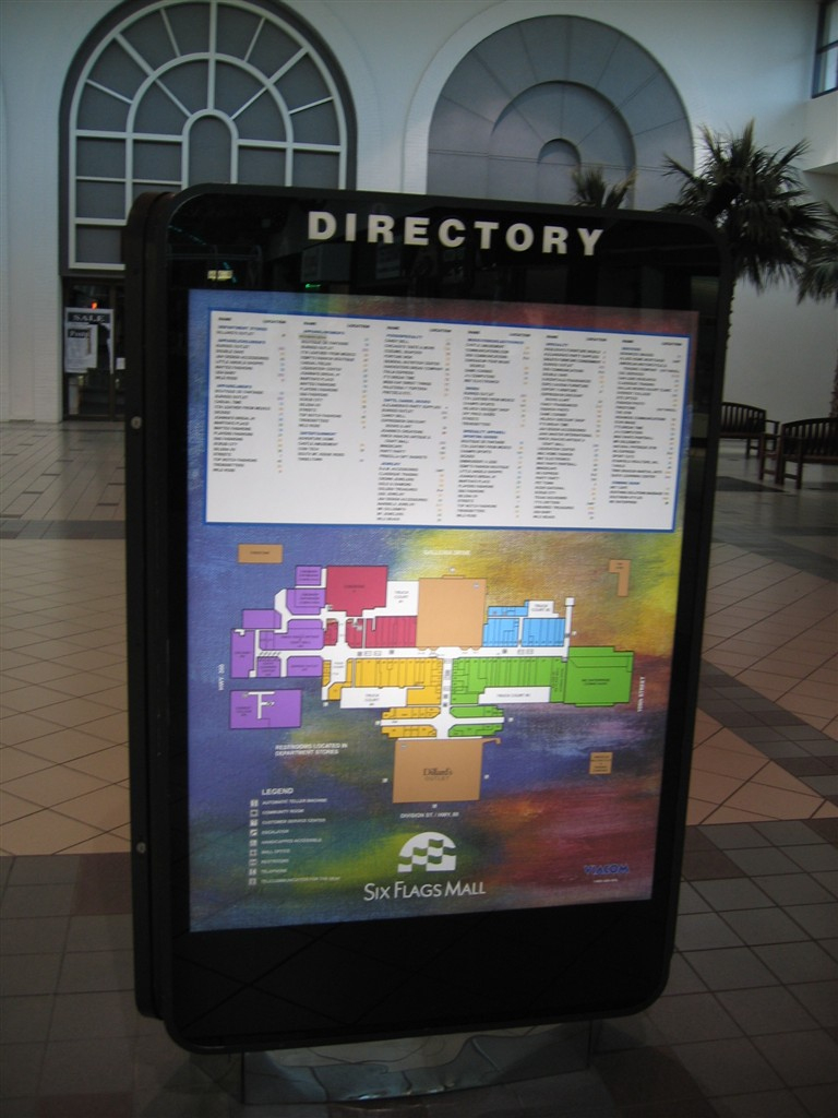 Labelscar: The Retail History Blogsix Flags Mall; Arlington, Texas - Map Of The Parks Mall In Arlington Texas