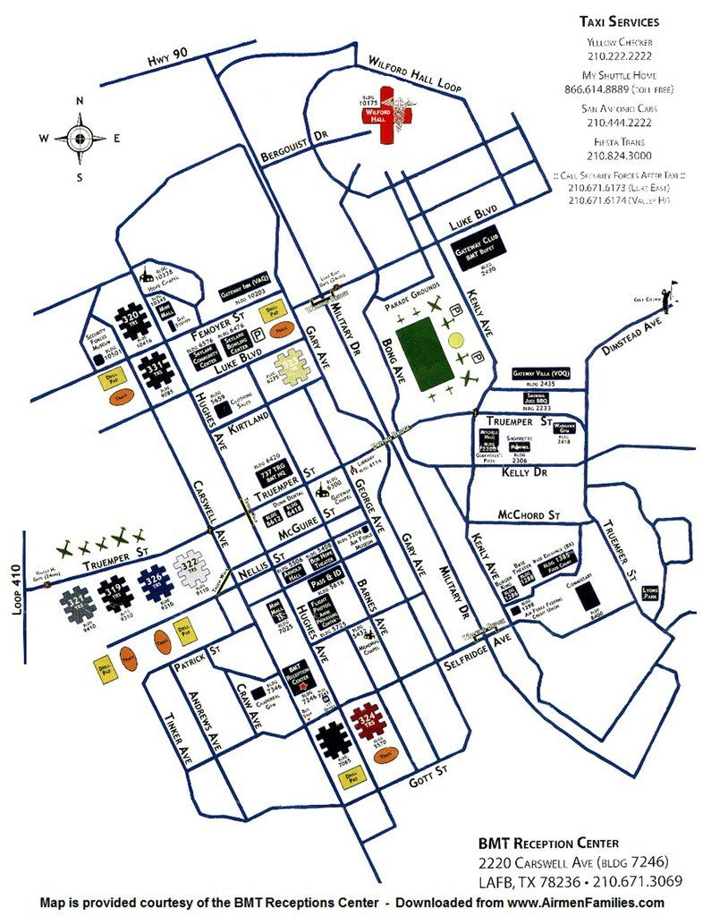 Lackland Air Force Base (Afb) - Maplets | Ideas - Lackland Texas Map