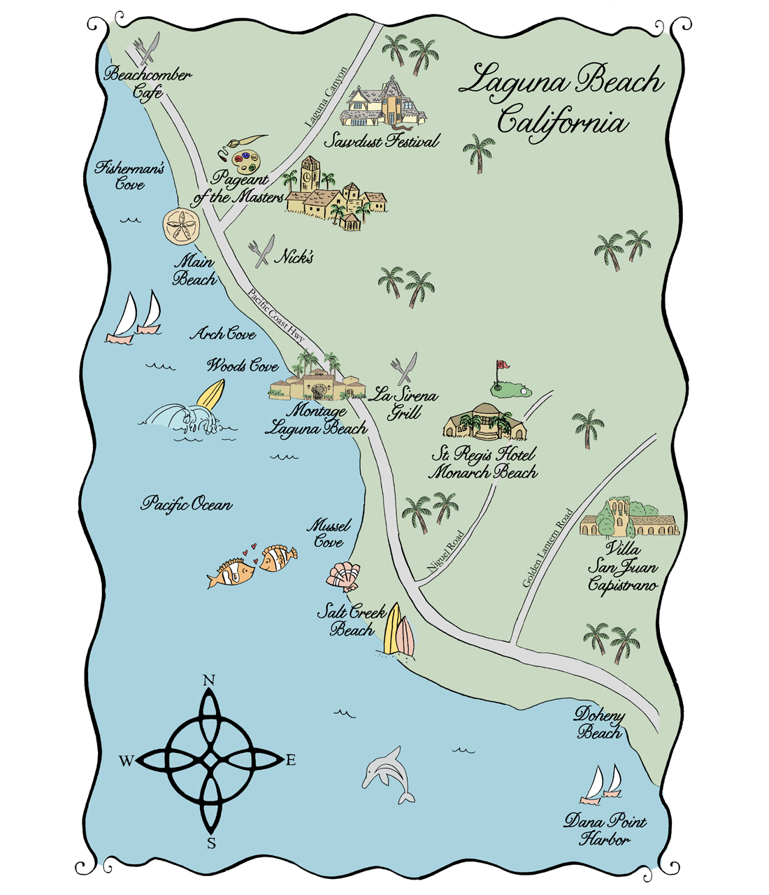 Laguna Beach California Map - Klipy - West Palm Beach California Map