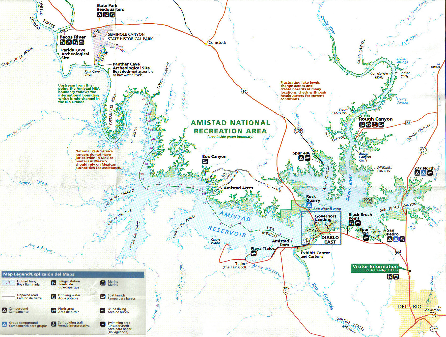 Lake Amistad Information Fishing Guide Kurt Dove - Texas Fishing Maps