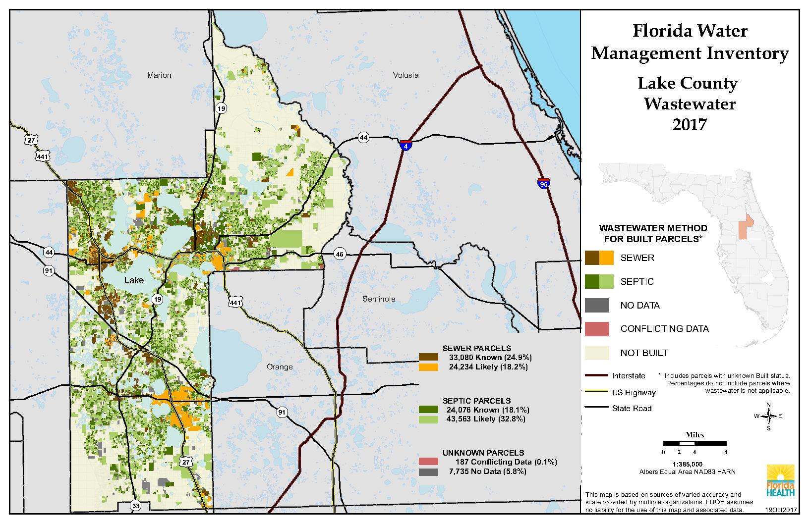 Lake Florida Water Management Inventory Summary | Florida Department - Map Of Lake County Florida