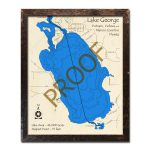 Lake George, Fl Wood Map | 3D Topographic Wood Chart   Lake George Florida Map