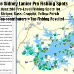 Lake Lanier Fishing Map, Fishing Spots For Bass, Striper, Crappie – Top Spot Fishing Maps Texas