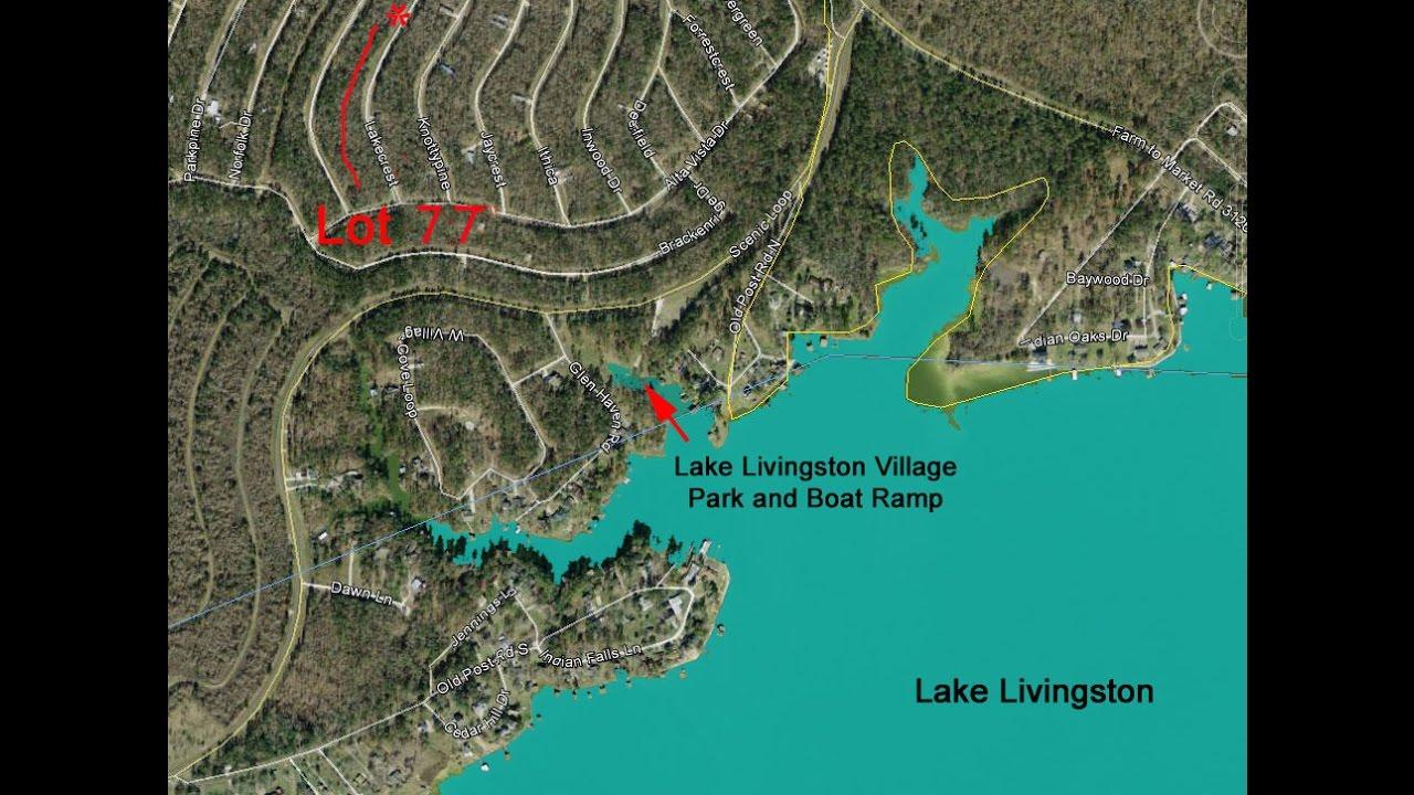 Lake Livingston Village, Section 9, Lot 77 - Youtube - Map Of Lake Livingston Texas