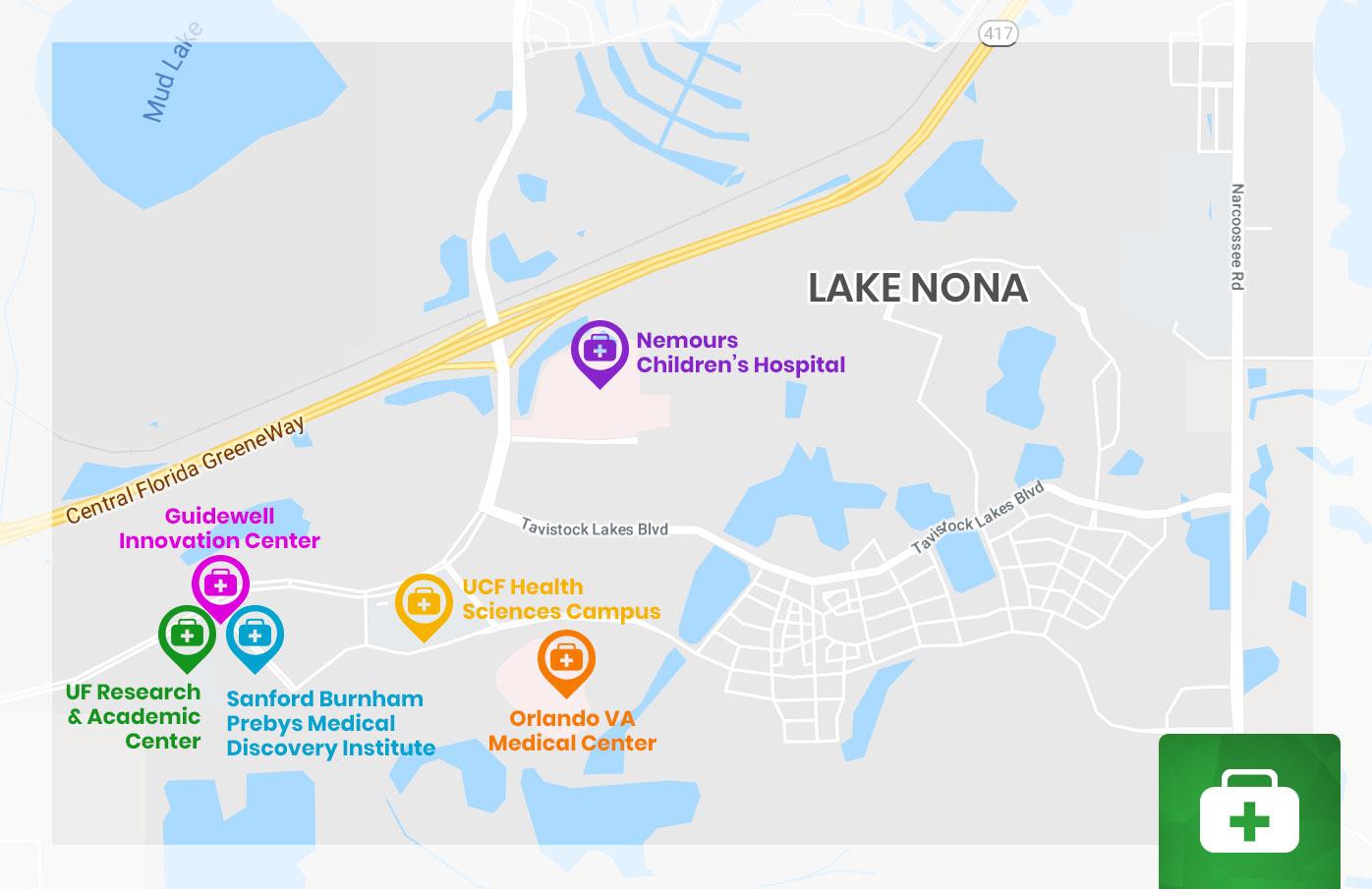 Lake-Nona-Medical-City-Map   Orlando New Home Experts - Lake Nona Florida Map