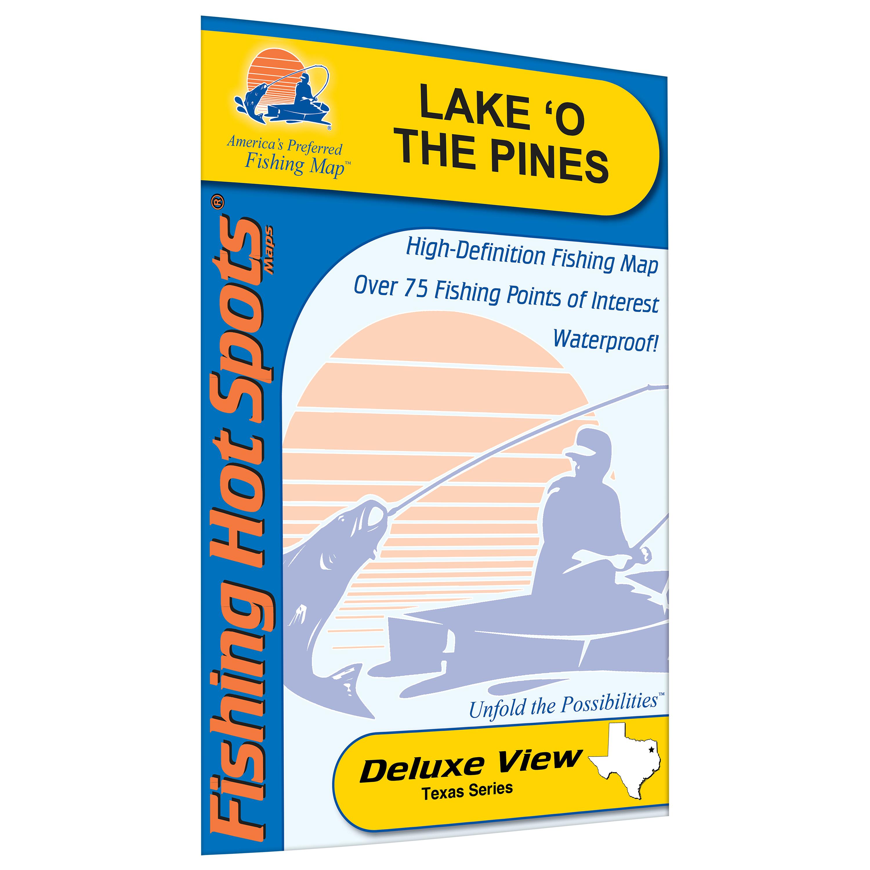 Lake O' The Pines Fishing Map, Lake - Walmart - Lake Of The Pines Texas Map