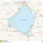 Lake Okeechobee Map Stock Illustration. Illustration Of America   Lake Okeechobee Florida Map