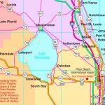 Lake Okeechobee Road Map   Lake Okeechobee Florida Map