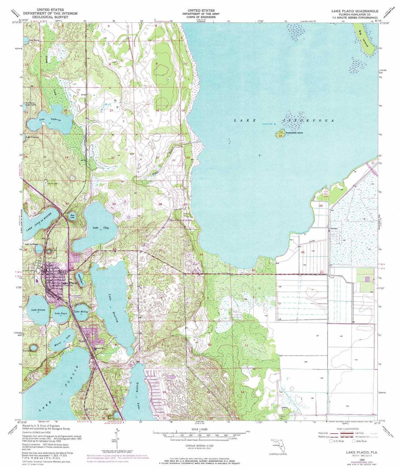 Lake Placid Topographic Map, Fl - Usgs Topo Quad 27081C3 - Lake Placid Florida Map