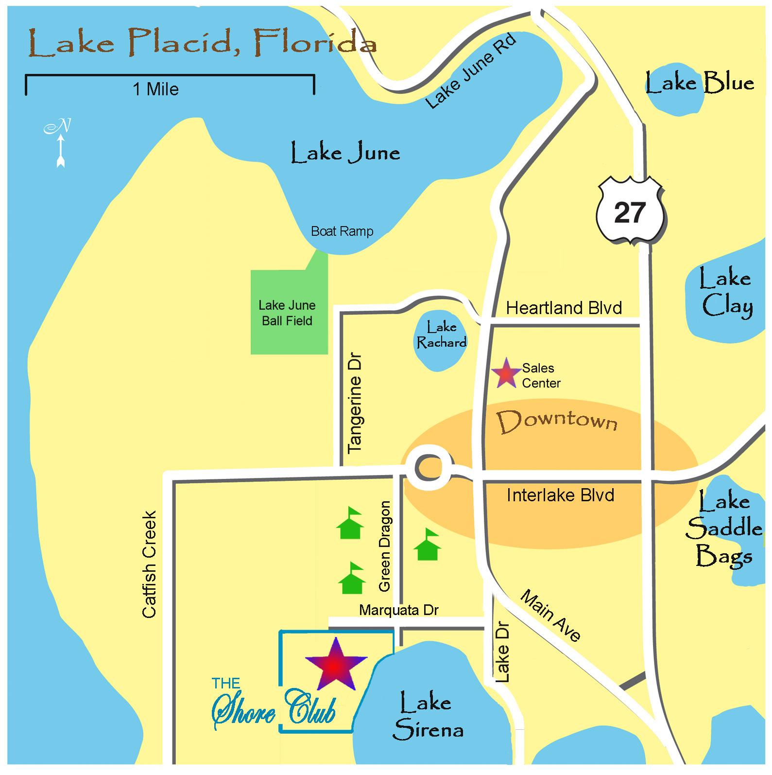 Lake Placide Town Map - Lake Placid Fl • Mappery - Lake Placid Florida Map
