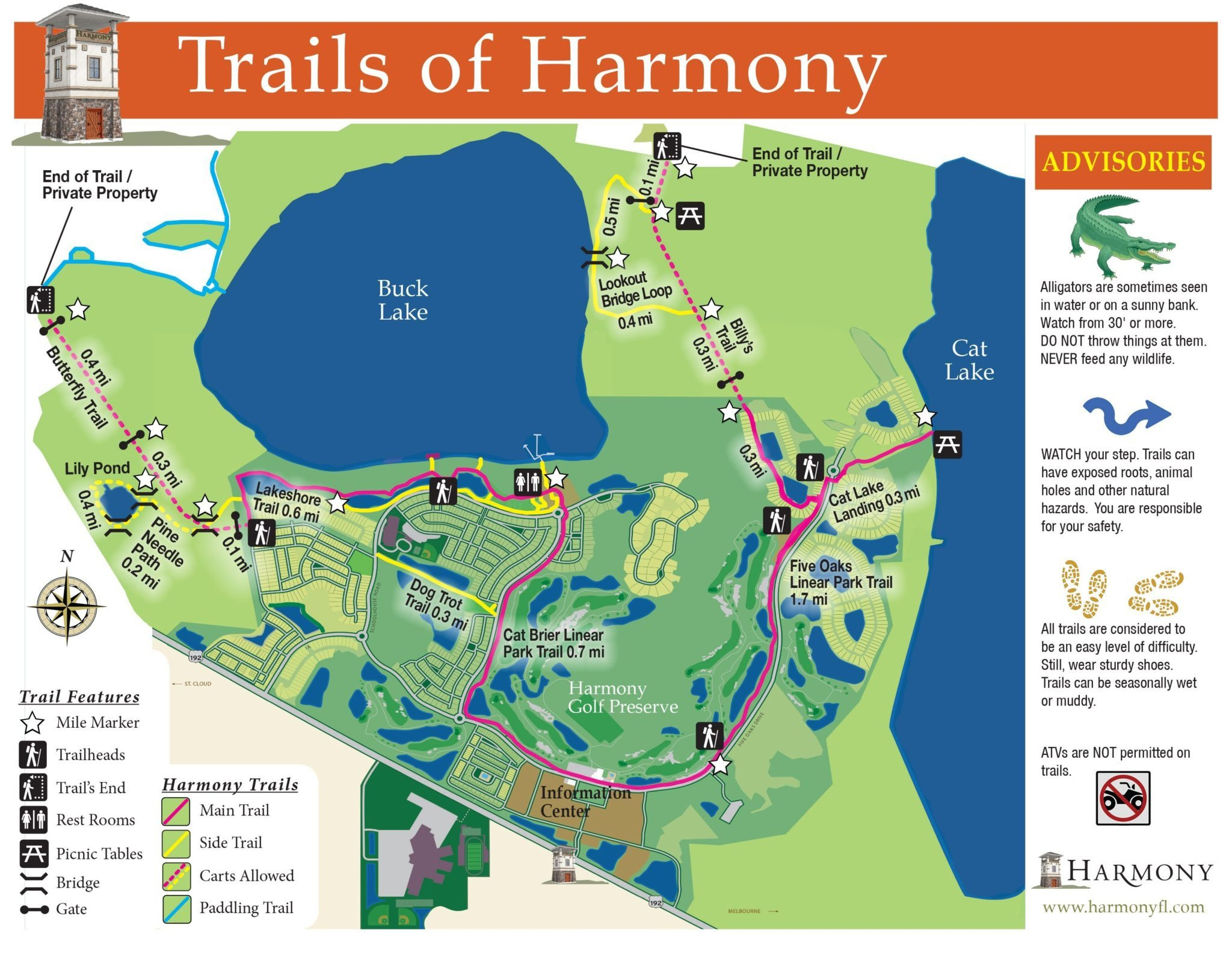Lakes And Trails At Harmony Florida - Piece Of Serenity And Beauty - Florida Lakes Map