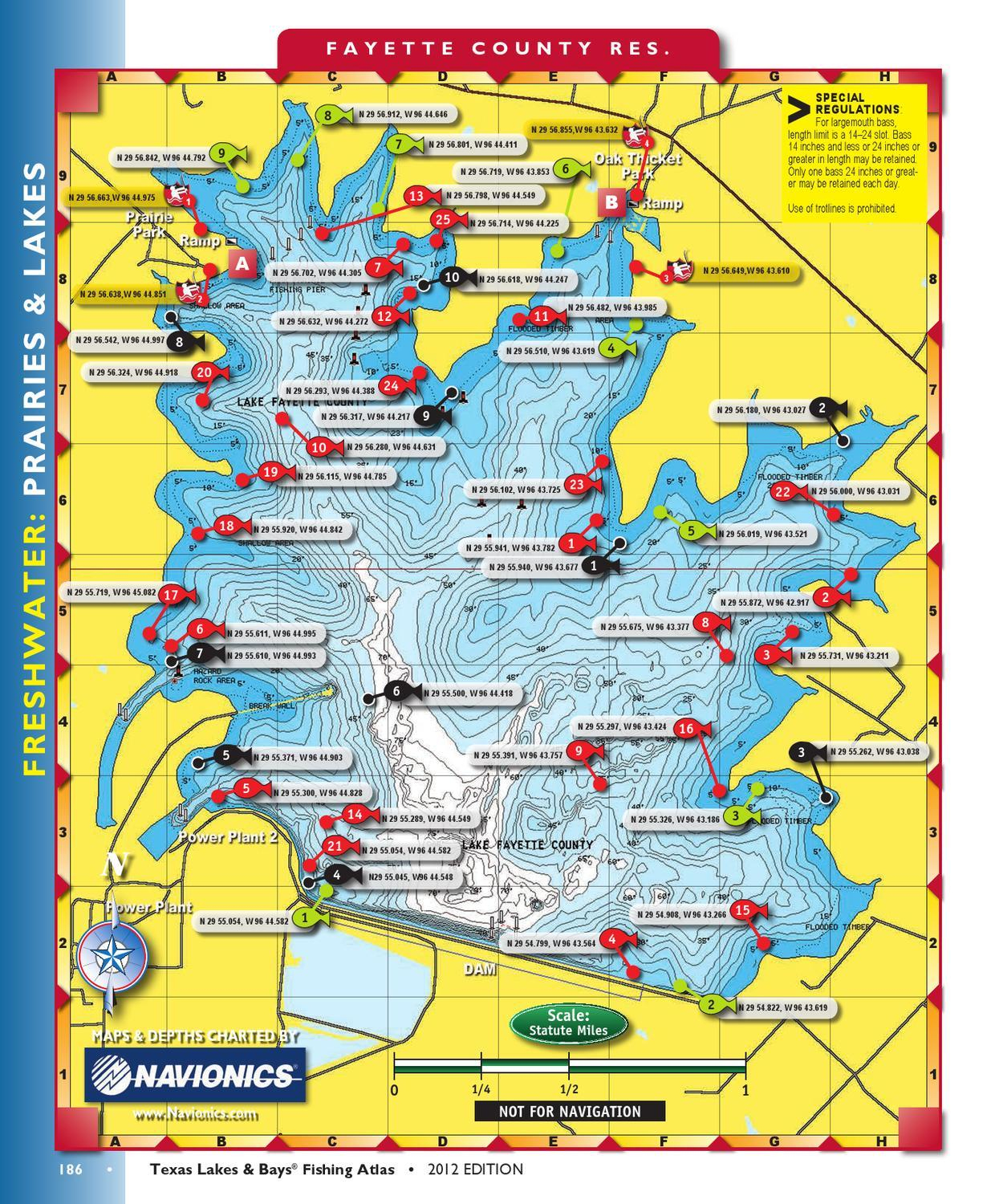Lakes Fishing Maps Hotspot Texas - Texas Fishing Maps
