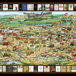 Laminated Texas Wine Map | Texas Wineries Map |Texas Hill Country   Hill Country Texas Wineries Map