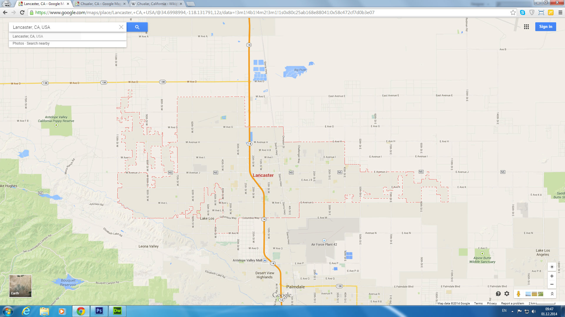 Lancaster Map California Us Detail Map Of Granada Hills California - Granada Hills California Map