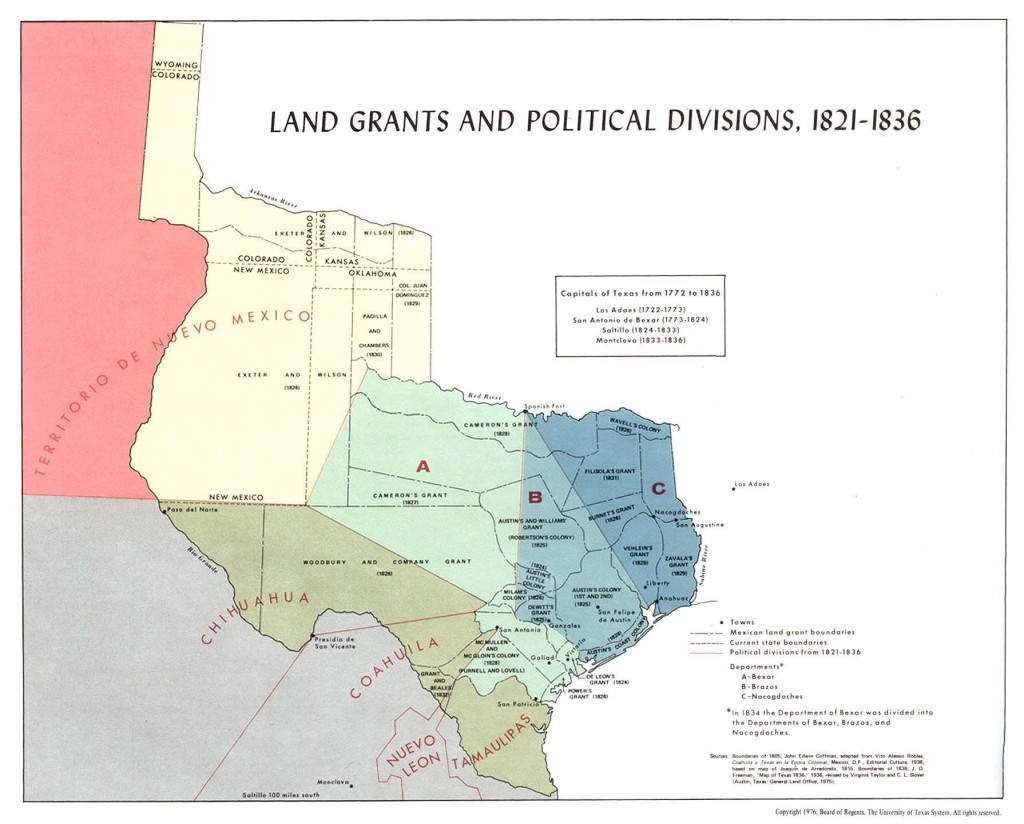 Land Grants | The Handbook Of Texas Online| Texas State Historical - Map Of Spanish Land Grants In South Texas