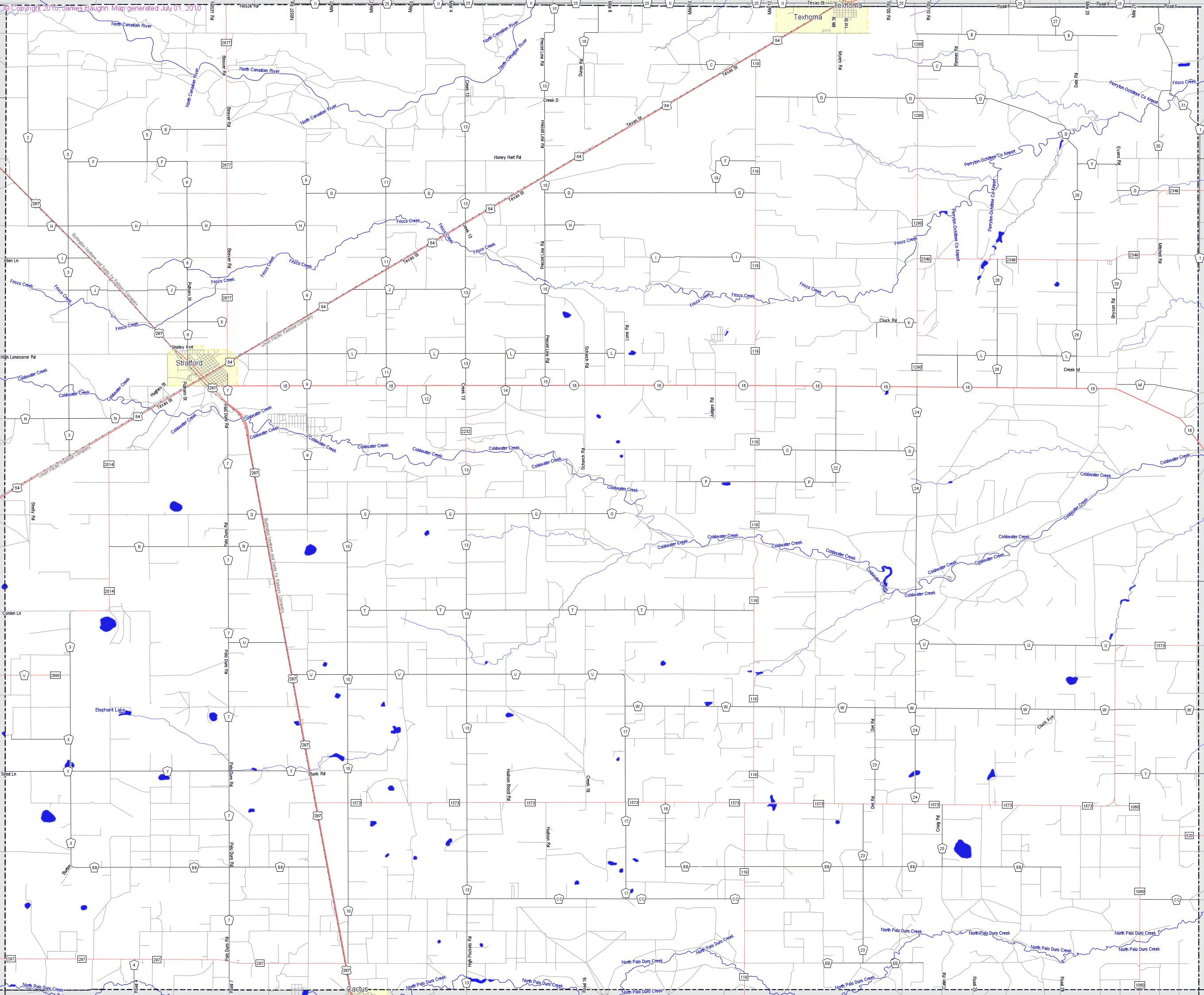 Landmarkhunter | Sherman County, Texas - Sherman Texas Map
