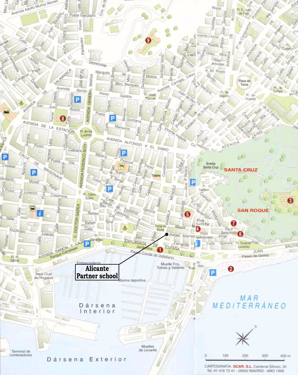 Large Alicante Maps For Free Download And Print | High-Resolution - Printable Street Map Of Nerja Spain
