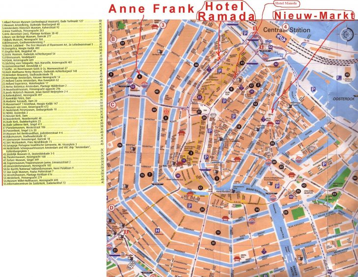 Printable Map Of Amsterdam City Centre