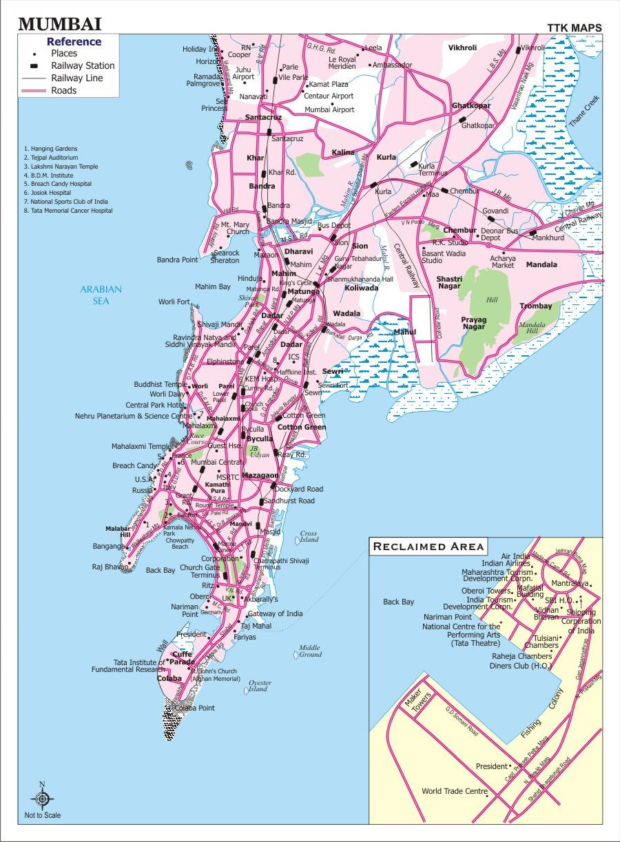 Large Bombay Maps For Free Download And Print | High-Resolution And - Free Printable Direction Maps