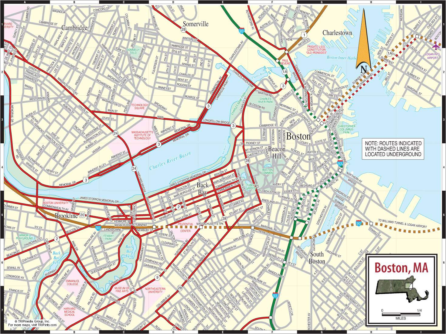 Large Boston Maps For Free Download And Print | High-Resolution And - Printable Map Of Boston
