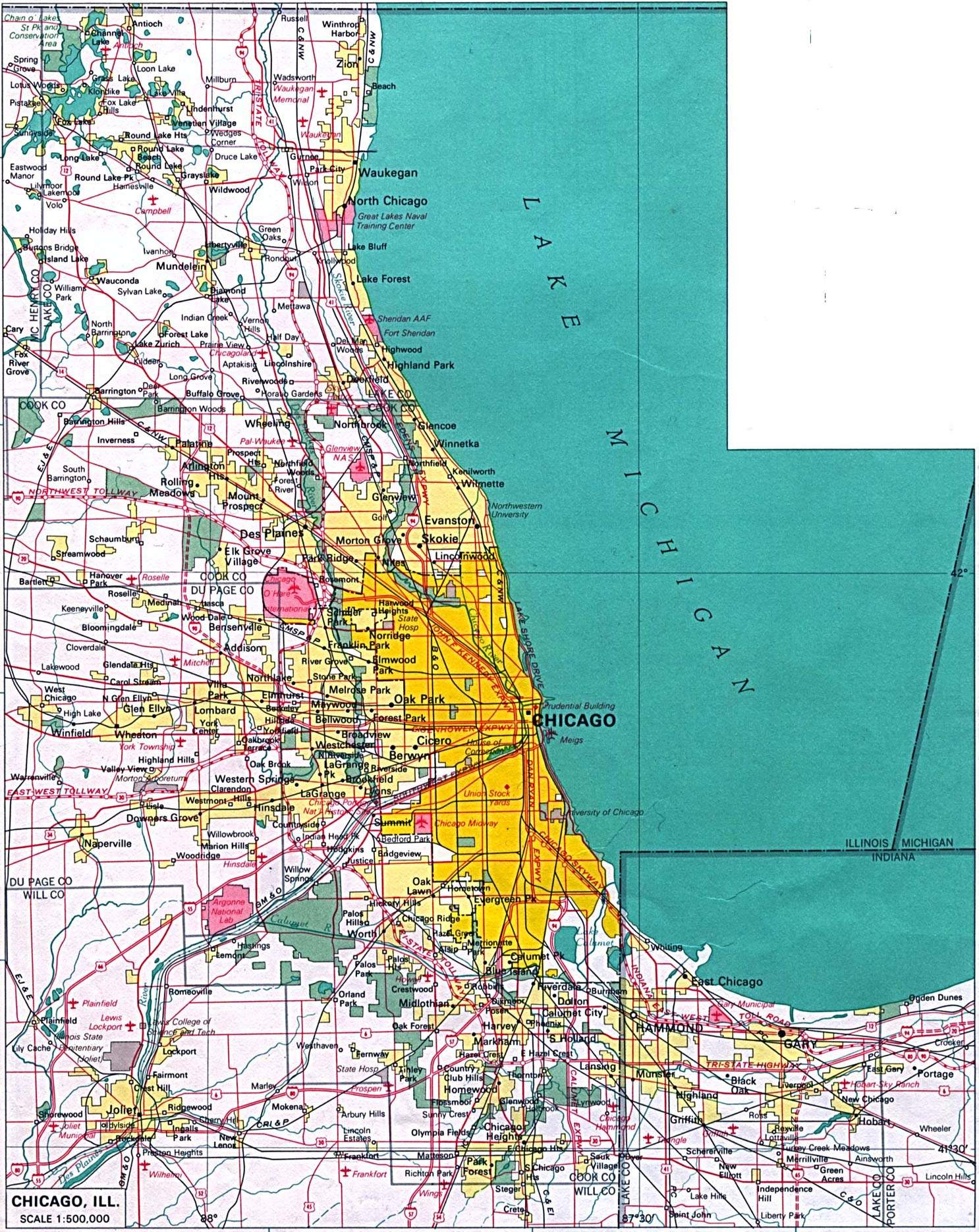 Large Chicago Maps For Free Download And Print   High-Resolution And - Printable Map Of Chicago