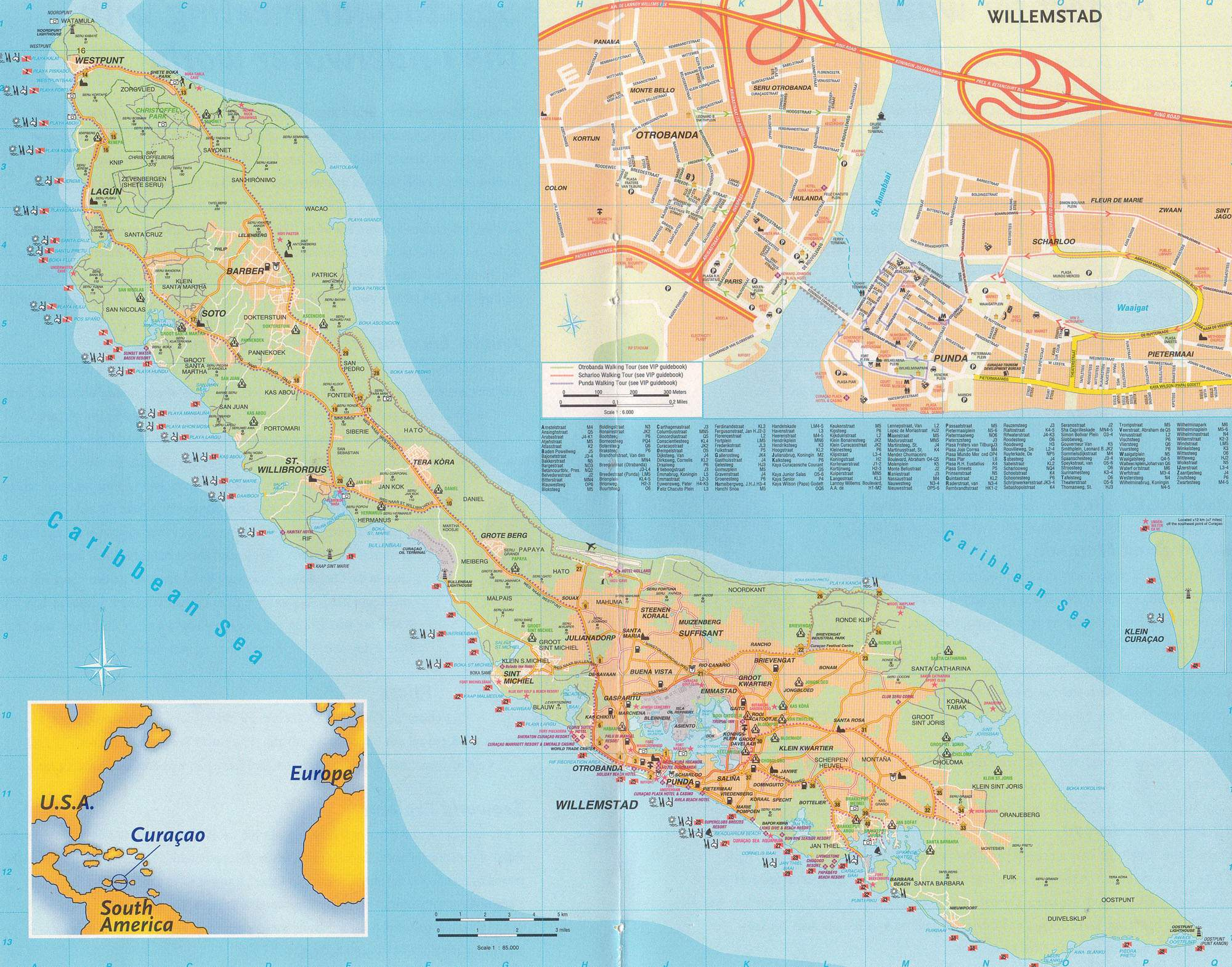 Large Curacao Maps For Free Download And Print | High-Resolution And - Printable Road Map Of St Maarten
