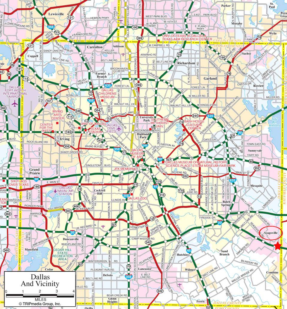 Large Dallas Maps For Free Download And Print | High-Resolution And - Printable Map Of Fort Worth Texas