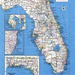 Large Detailed Administrative Map Of Florida State With Major Cities   Large Detailed Map Of Florida