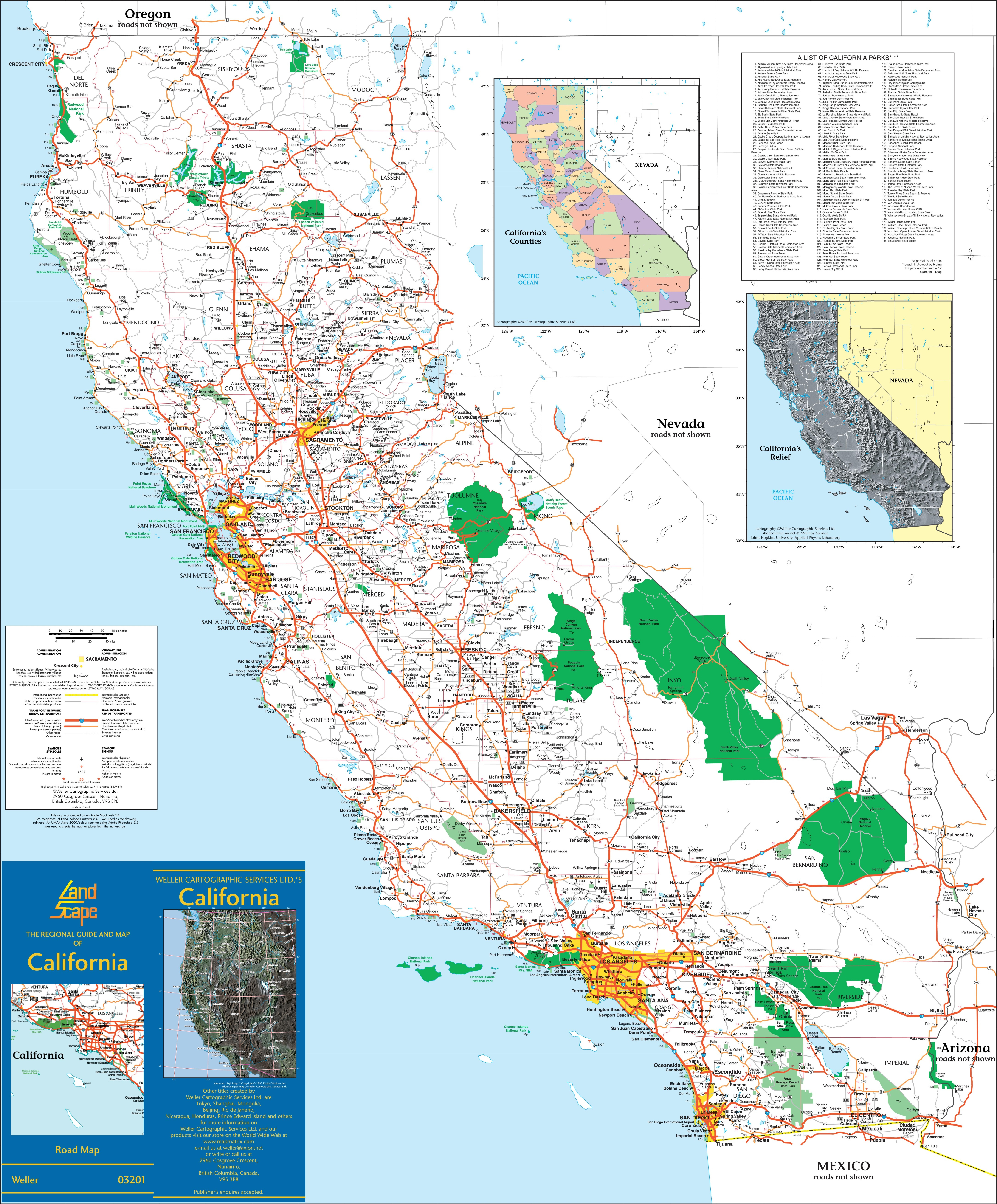 Large Detailed Map Of California With Cities And Towns - California Map And Cities