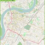 Large Detailed Map Of Chattanooga   Printable Map Of Chattanooga