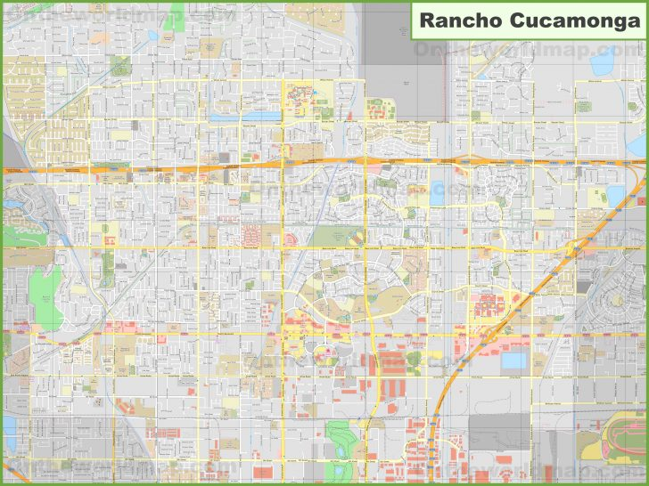 Rancho Cucamonga California Map