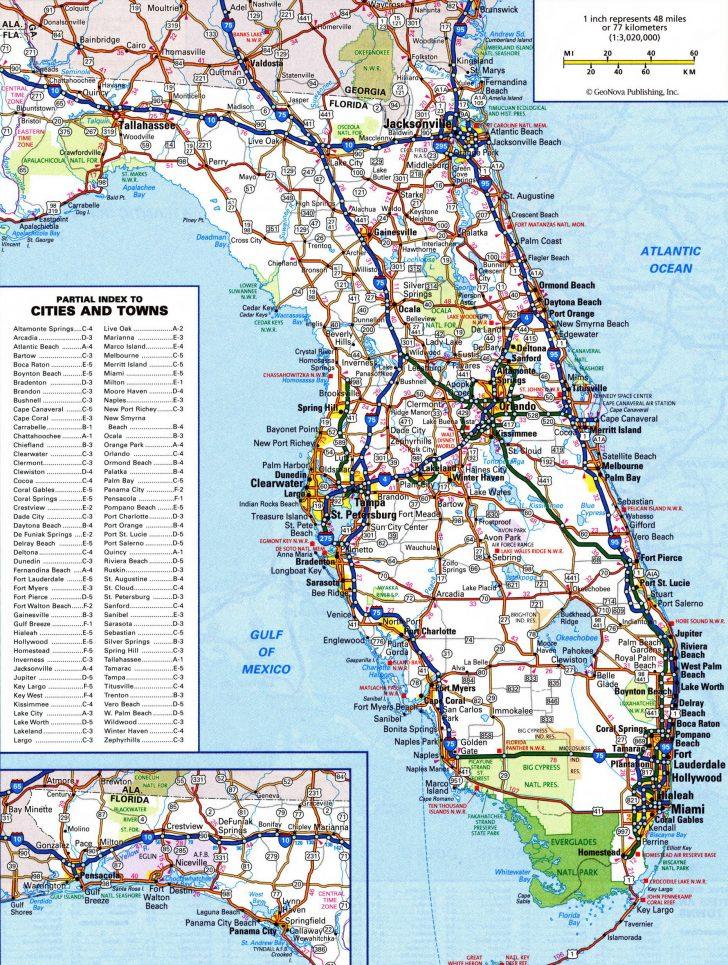 Large Map Of Florida