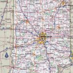 Large Detailed Roads And Highways Map Of Indiana State With Cities   Indiana State Map Printable