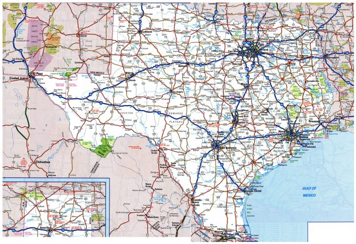 Map Of Texas Roads And Cities