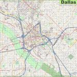 Large Detailed Street Map Of Dallas   Street Map Of Dallas Texas