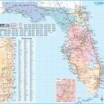 Large Detailed Tourist Map Of Florida   Road Map Of North Florida