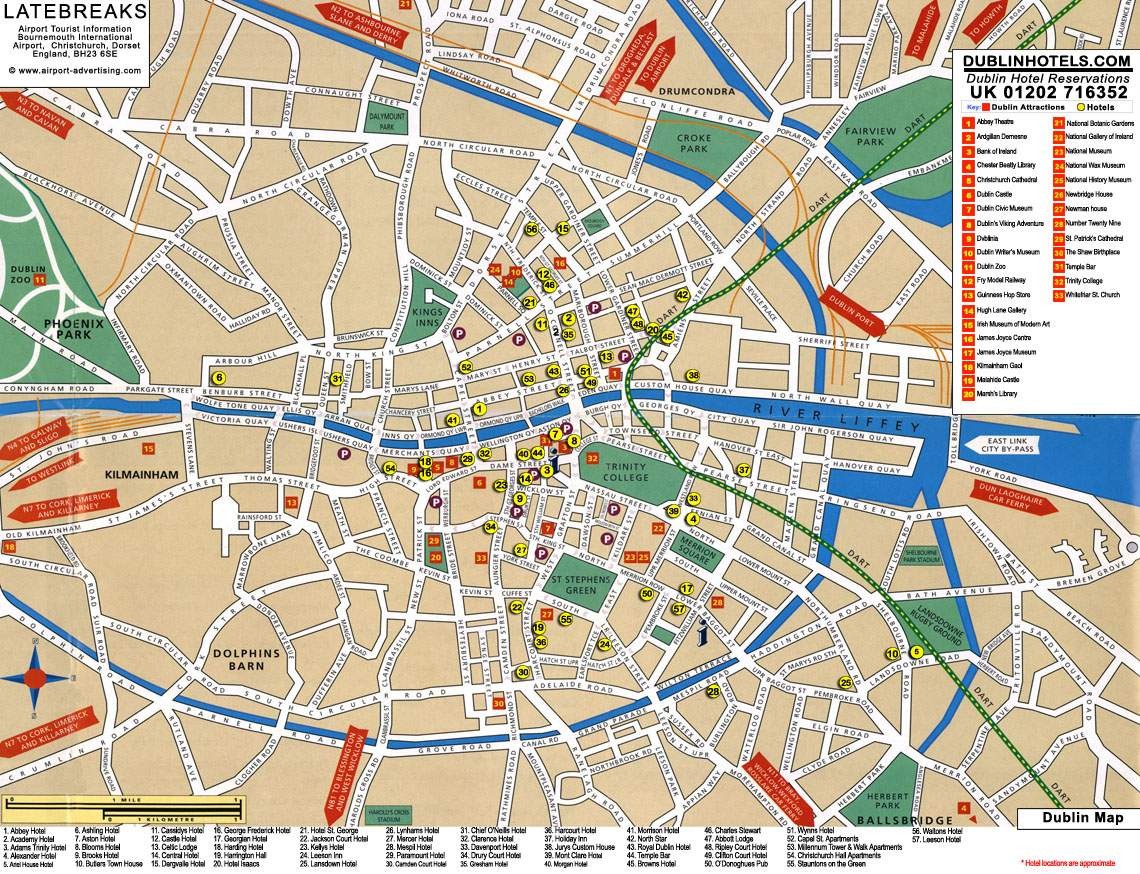 Large Dublin Maps For Free Download And Print | High-Resolution And - Dublin Tourist Map Printable