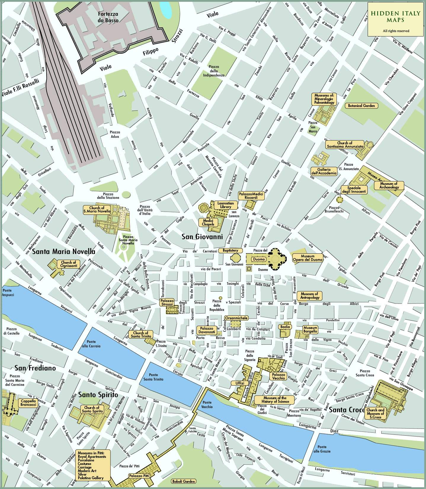 Large Florence Maps For Free Download And Print | High-Resolution - Printable Map Of Florence
