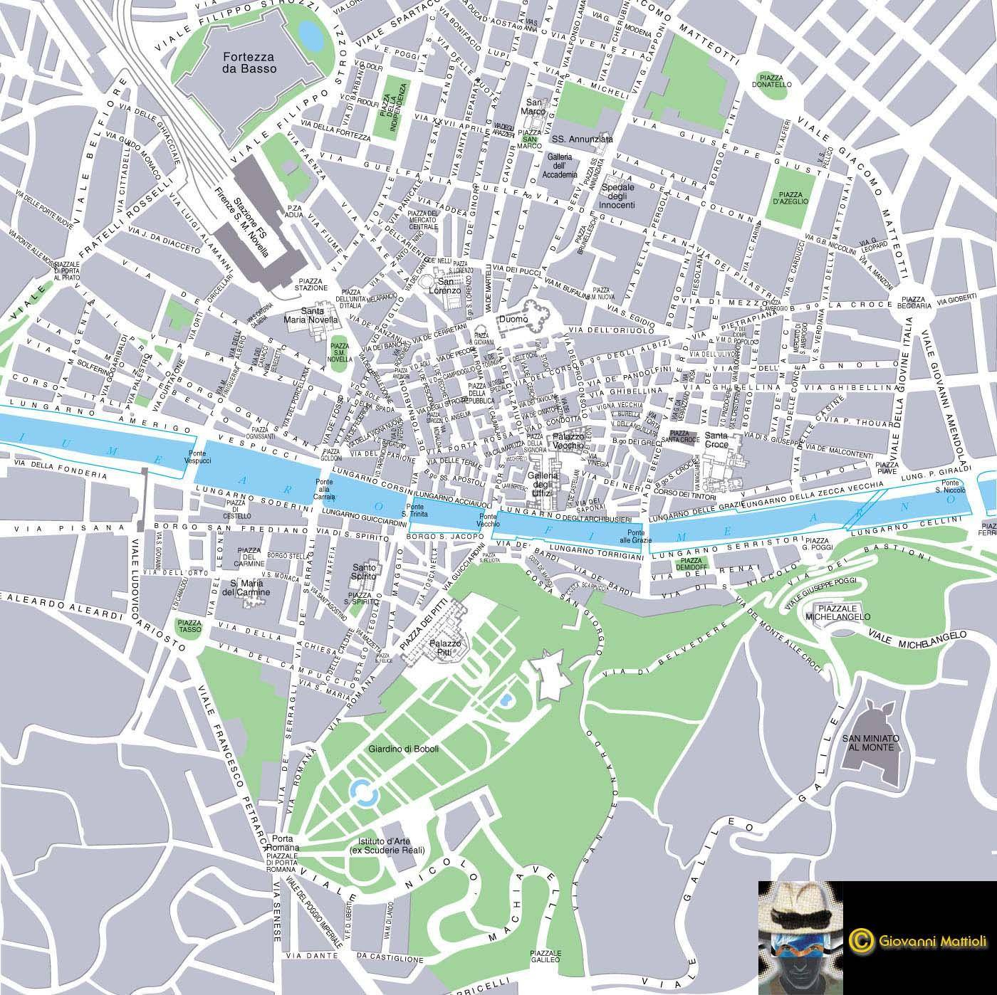 Large Florence Maps For Free Download And Print | High-Resolution - Printable Street Map Of Sorrento Italy