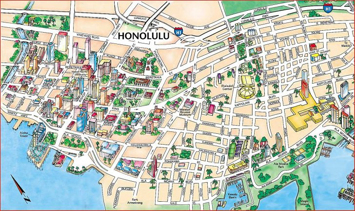 Printable Map Of Oahu Attractions