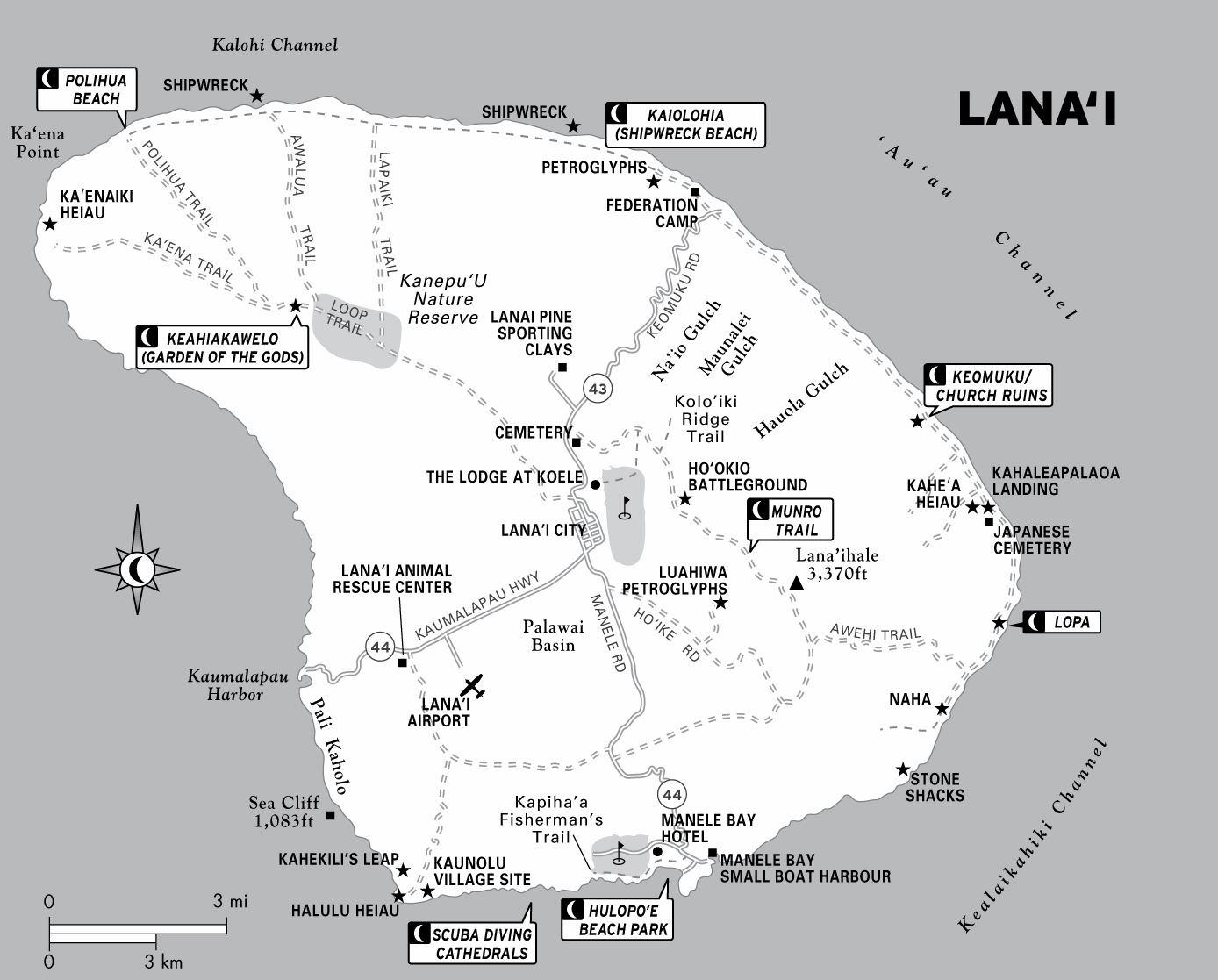 Large Lanai Maps For Free Download And Print | High-Resolution And - Printable Driving Map Of Kauai