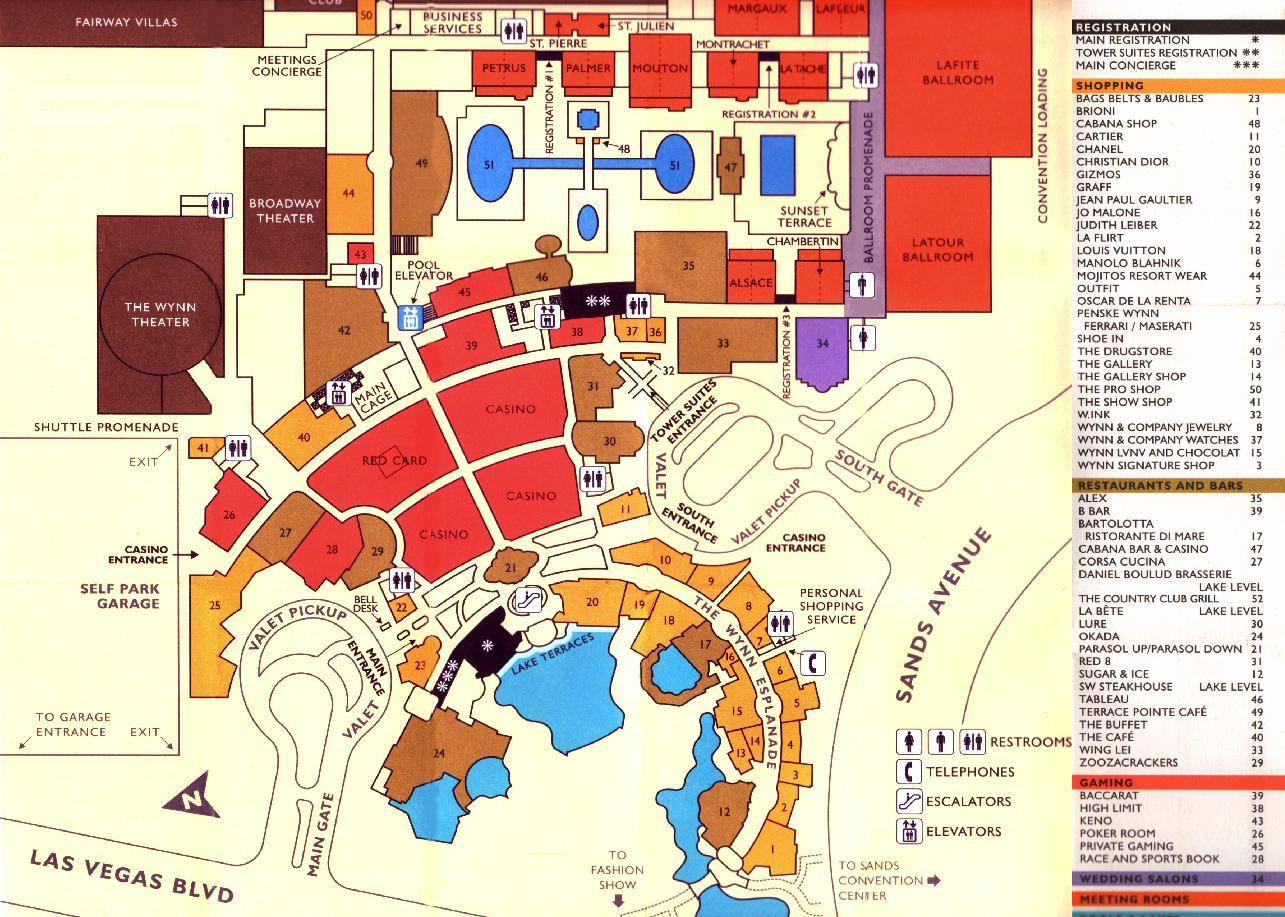 Large Las Vegas Maps For Free Download And Print   High-Resolution - Map Of Las Vegas Strip Hotels Printable