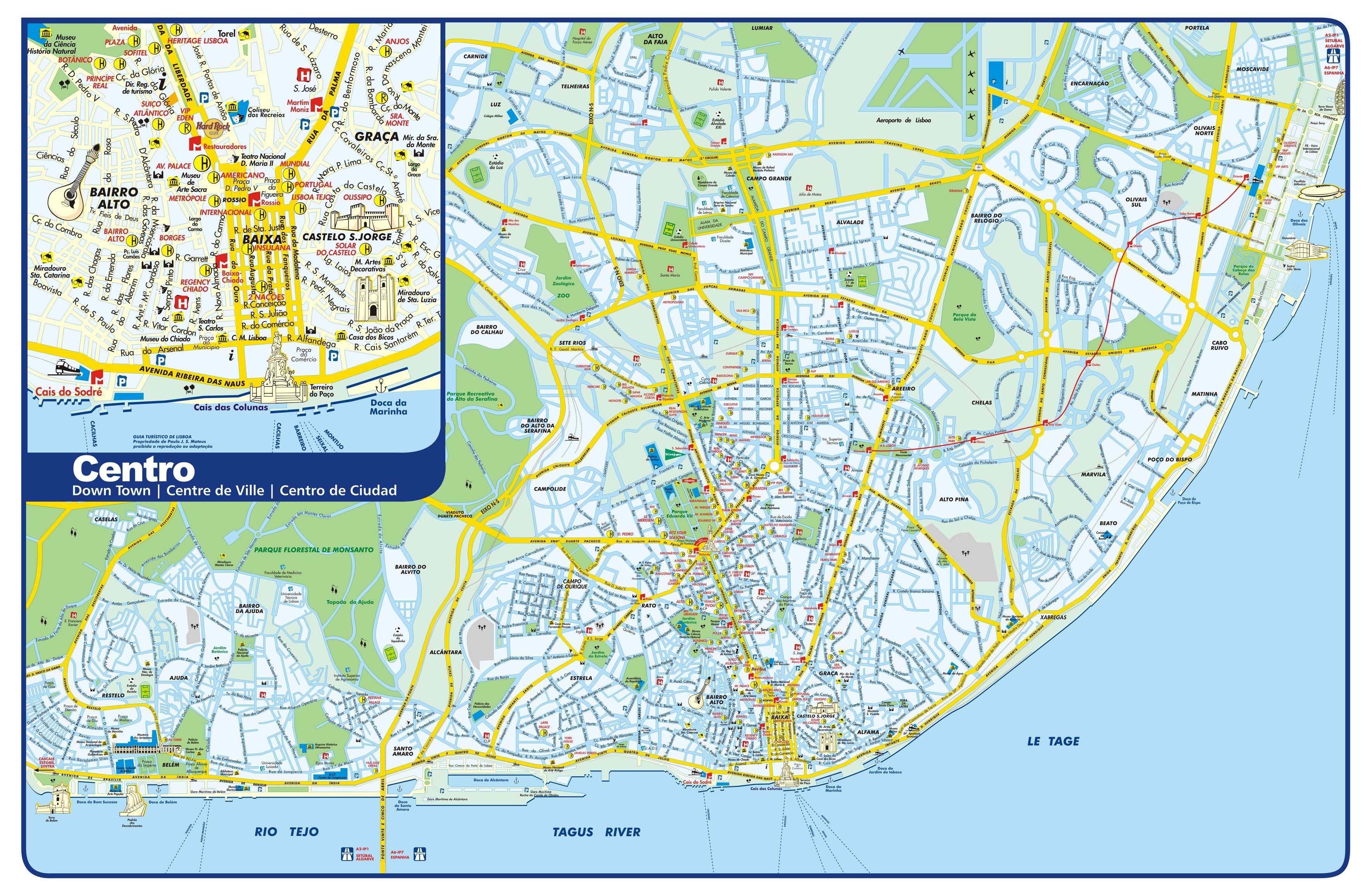 Large Lisbon Maps For Free Download And Print | High-Resolution And - Lisbon Tourist Map Printable