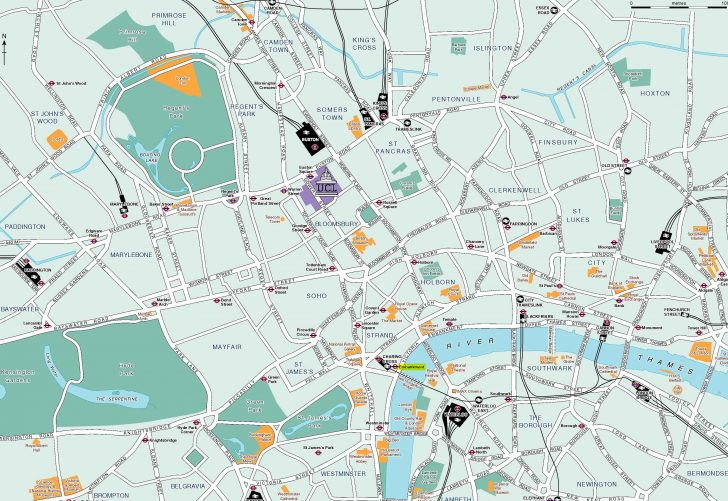 Printable Map Of London With Attractions