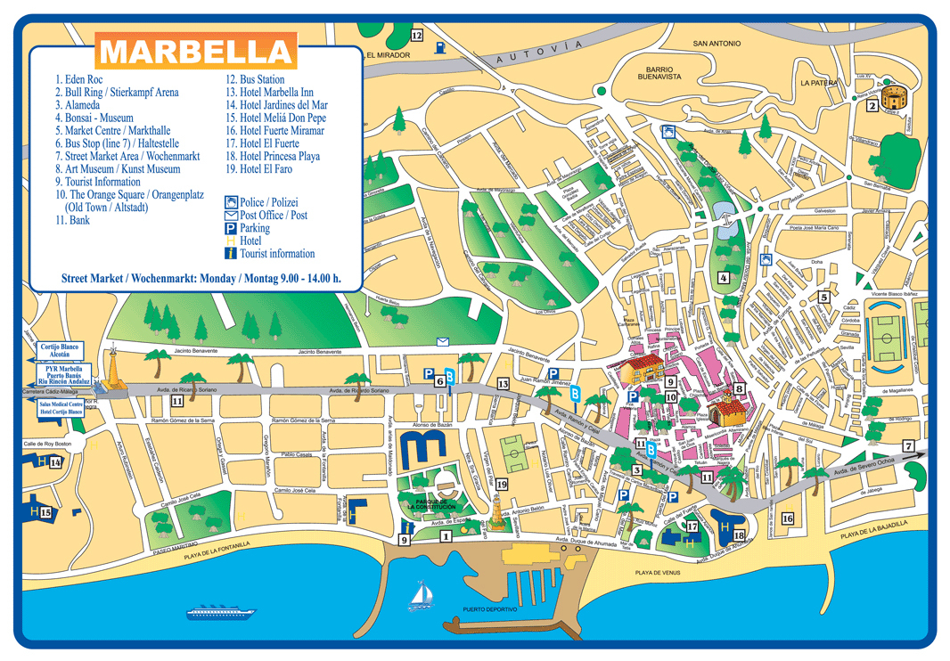 Large Marbella Maps For Free Download And Print | High-Resolution - Printable Street Map Of Nerja Spain