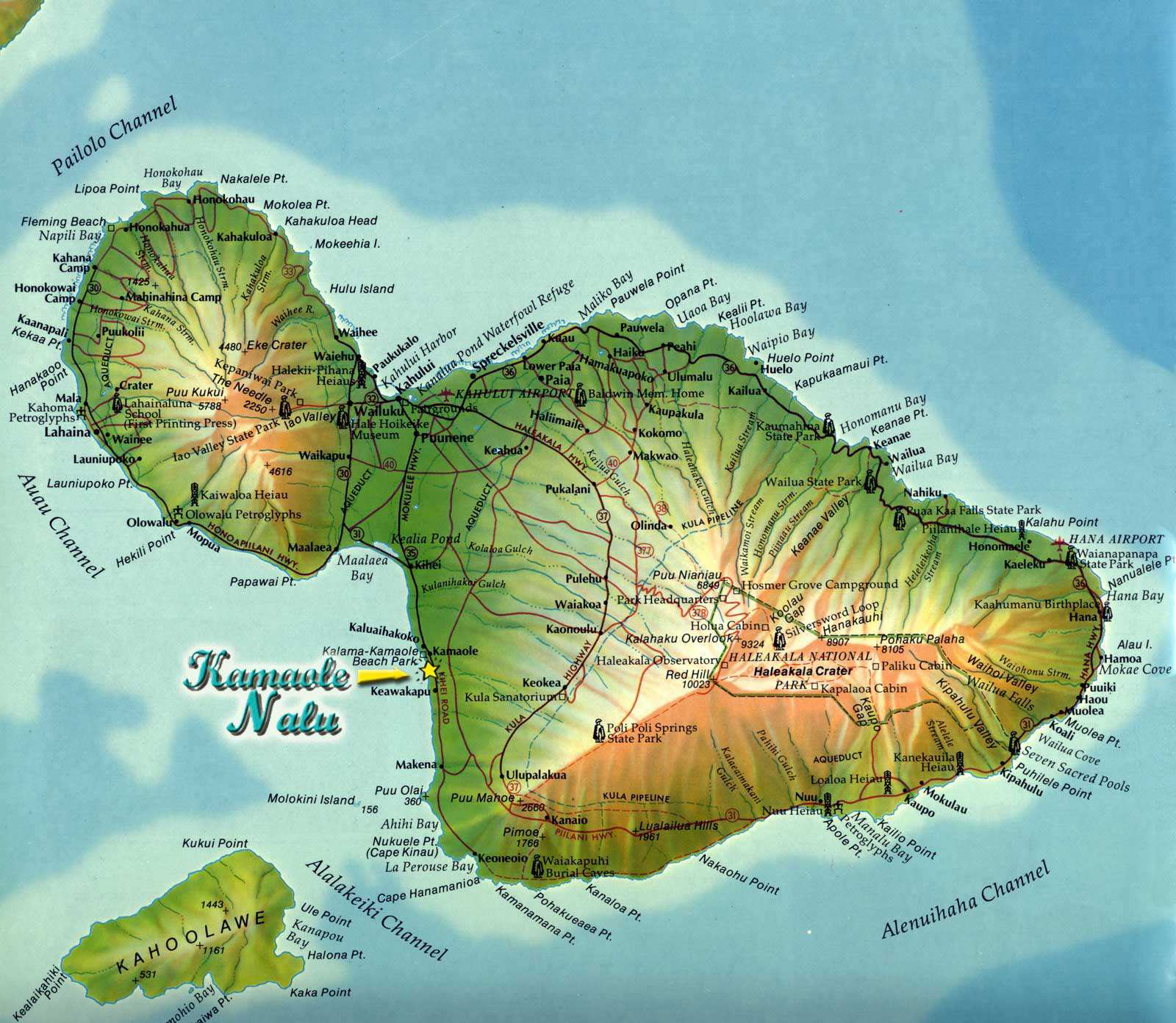 Large Maui Maps For Free Download And Print | High-Resolution And - Molokai Map Printable