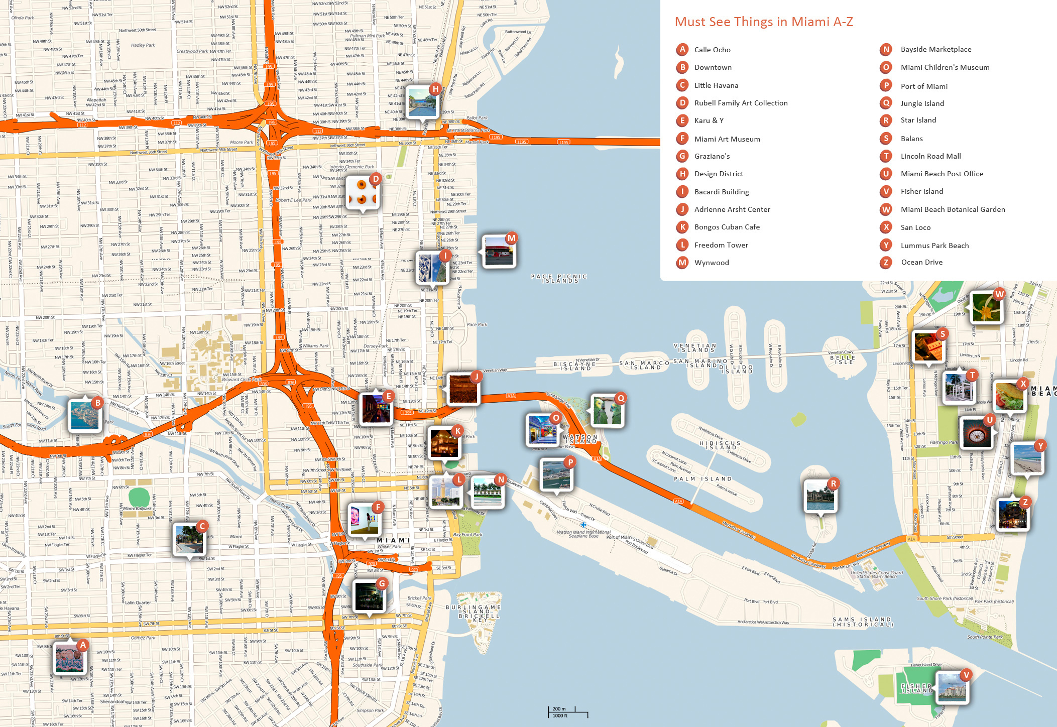 Large Miami Maps For Free Download And Print   High-Resolution And - Florida Travel Guide Map