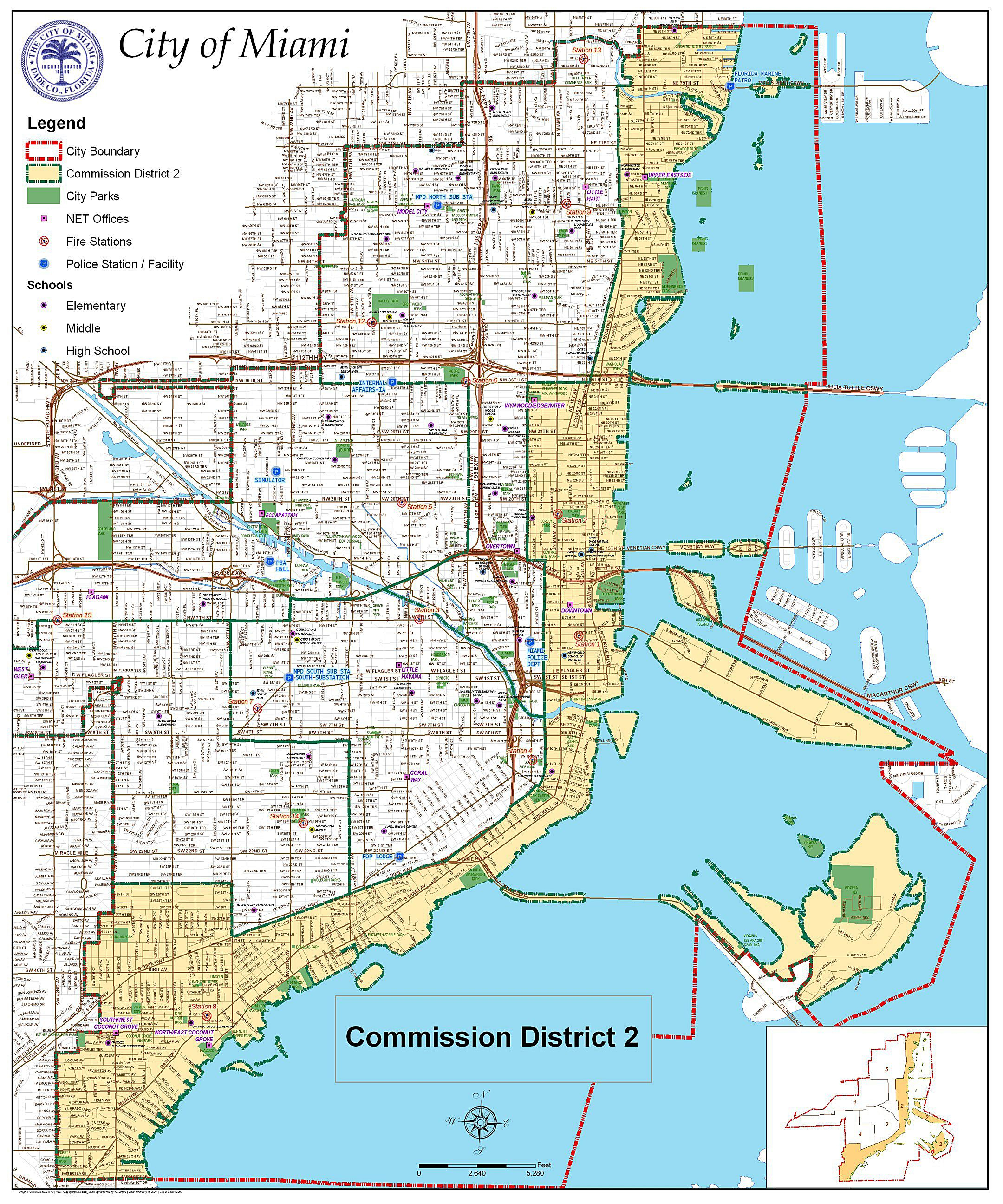 Large Miami Maps For Free Download And Print   High-Resolution And - Street Map Of Miami Florida