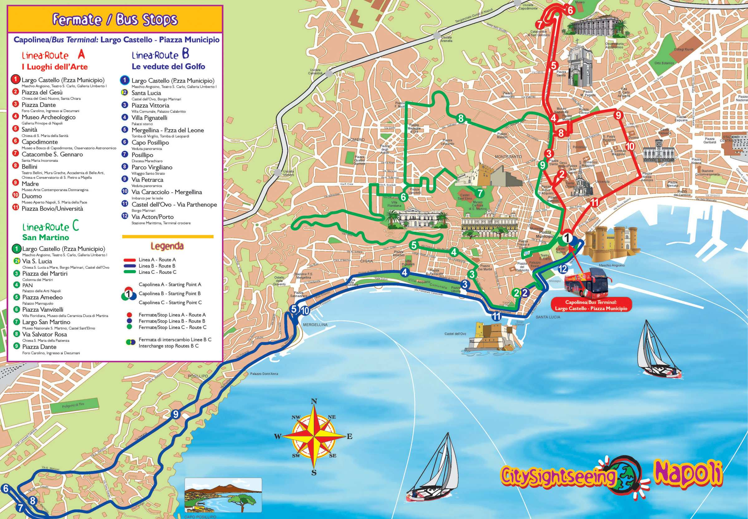 Large Naples Maps For Free Download And Print | High-Resolution And - Printable Street Map Of Sorrento Italy