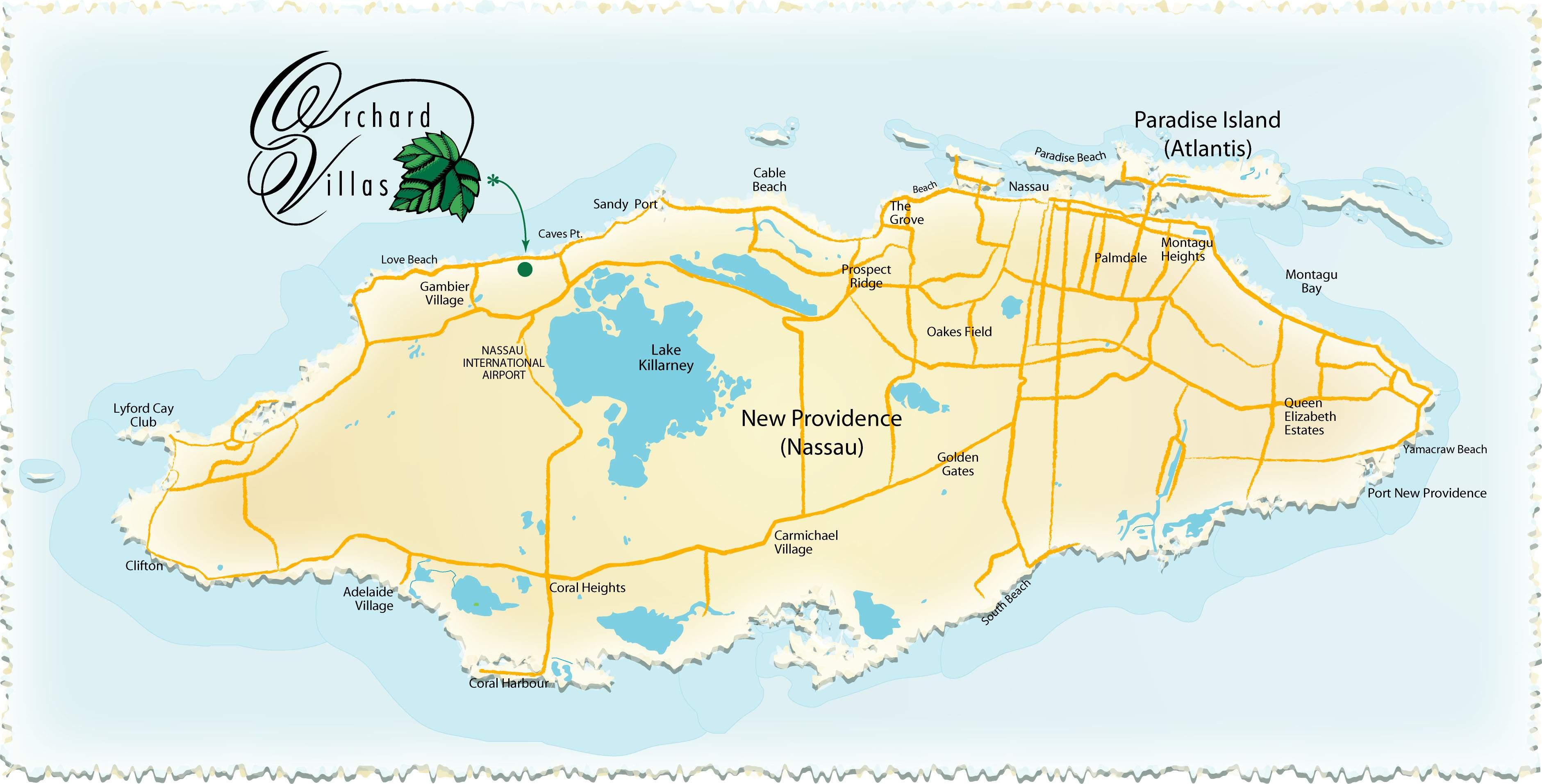 Large Nassau Maps For Free Download And Print   High-Resolution And - Printable Map Of Nassau Bahamas